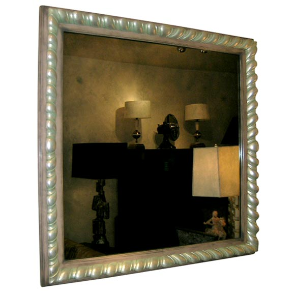 This BEAUTIFUL JAMES MONT MIRROR WITH AN ELABORATE CARVED FRAME. is no ...