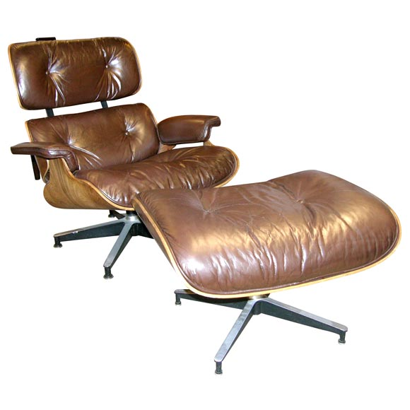 Iconic lounge chair and ottoman designed by charles eames Iconic chair and ottoman