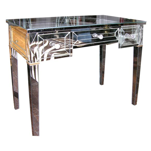 Custom mirrored writing desk for sale at 1stdibs for Unique desks for sale