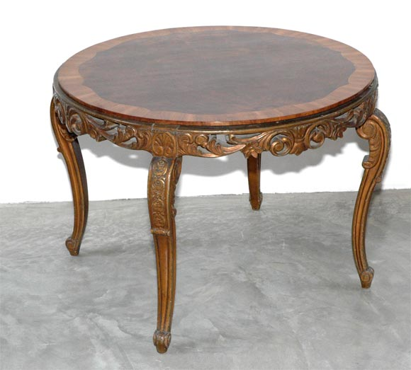 Italian 1920s Carved Wood Coffee Table 2