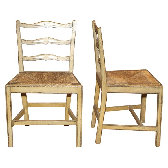 Swedish Ladderback Chairs At 1stdibs