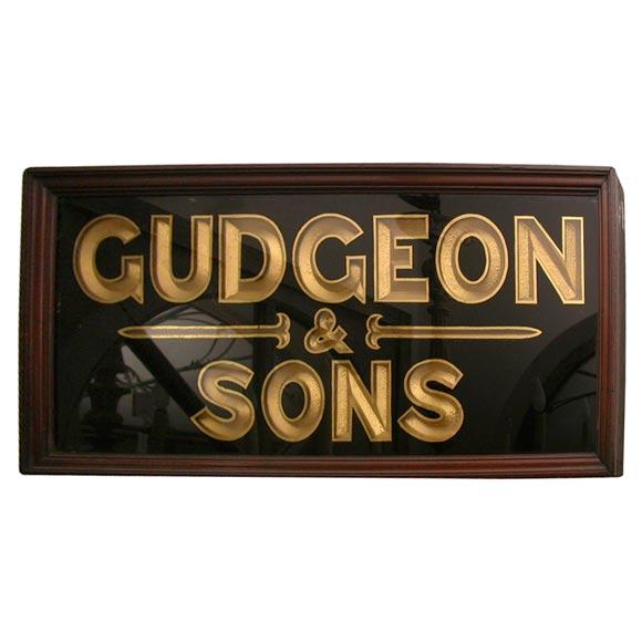 Gilt English Shop Sign, circa 1850