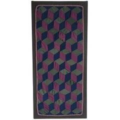 1920s Amish Rare Cradle Quilt/Tumbling Blocks