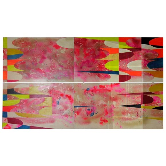 Psychedelic mural from sag harbor diner at 1stdibs for Telephone mural 1970