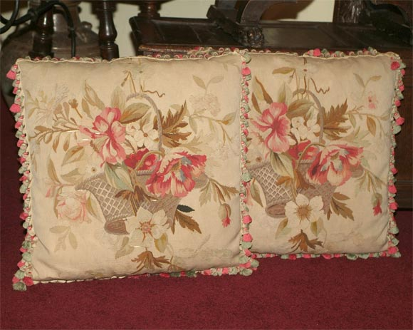 Pair of Aubusson Pillows 2