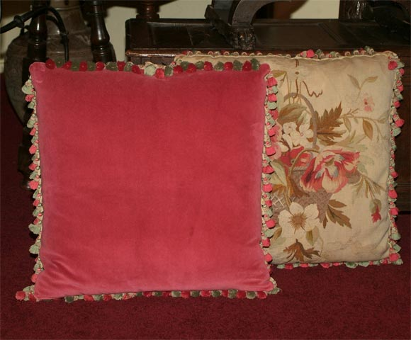 Pair of Aubusson Pillows 5