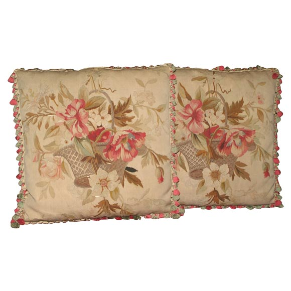 Pair of Aubusson Pillows