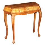 Small Italian Fruitwood Console Table