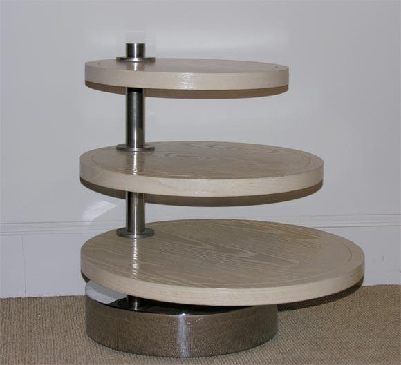 Swivel Side Table ~ A karl springer custom made swivel side table at stdibs