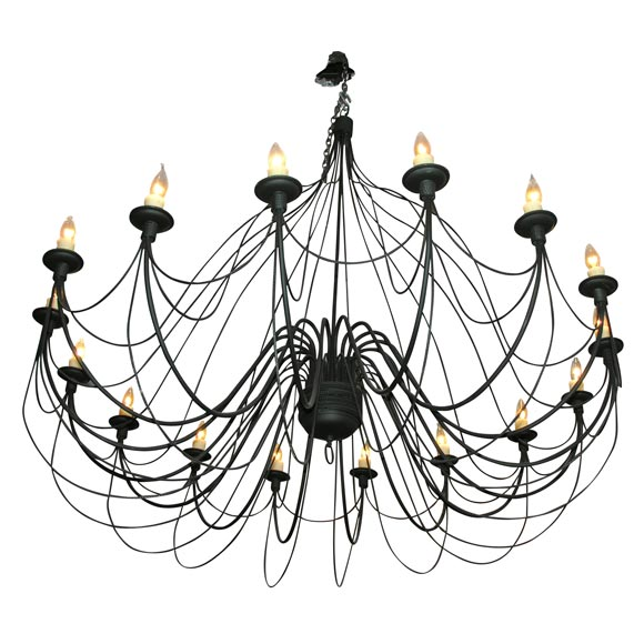 large black wire chandelier at 1stdibs