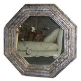 Italian Mirror with a Carved Wood Frame