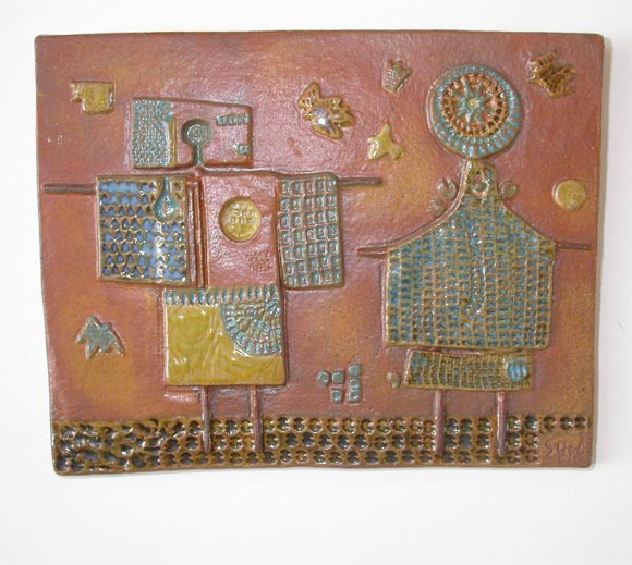 Stoneware Bas Relief Wall Plaques By Stig Lindberg At 1stdibs
