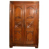French Carved Cherrywood Armoire, circa 1780