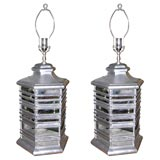Pair of pagoda-form table lamps