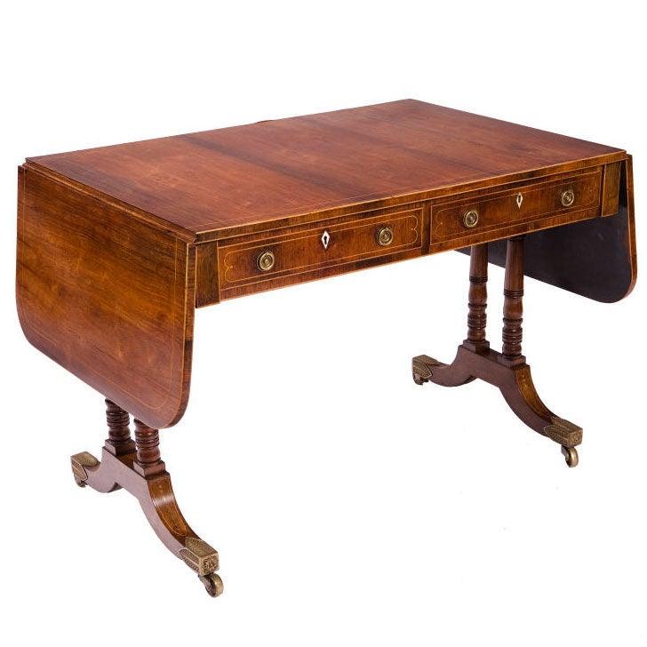 Fine Regency Mahogany Sofa Table For Sale