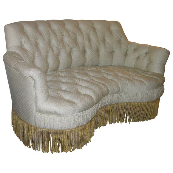 tufted curved settee at 1stdibs