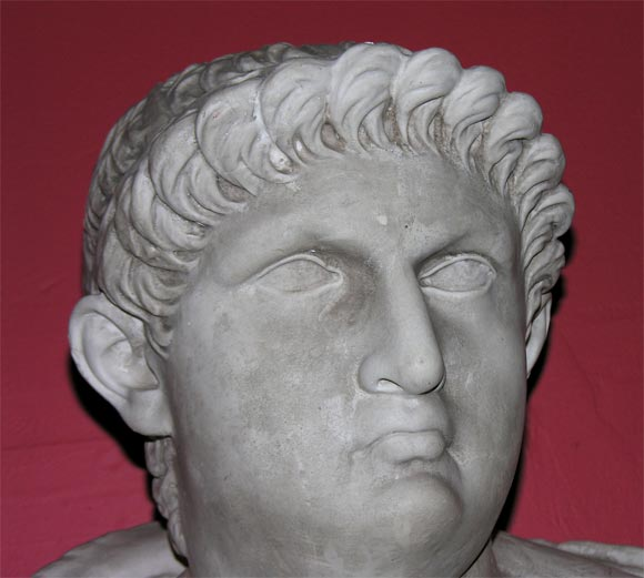 20th Century Bust of Roman Figure For Sale