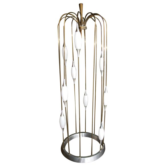 Moderne waterfall lamp at 1stdibs for Waterfall lamp shade