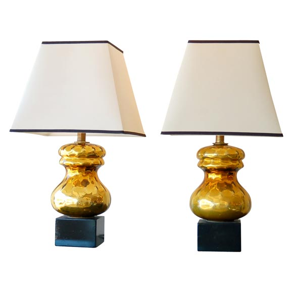 pair of gold mercury glass lamps at 1stdibs. Black Bedroom Furniture Sets. Home Design Ideas