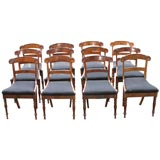 Set of 12 period  Dining Chairs