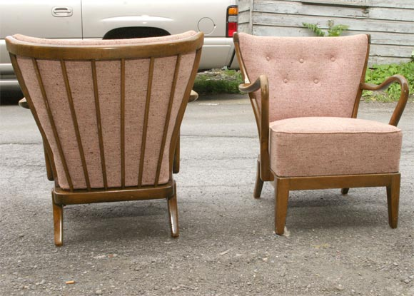 Mid-20th Century Pair of Tubby Armchairs
