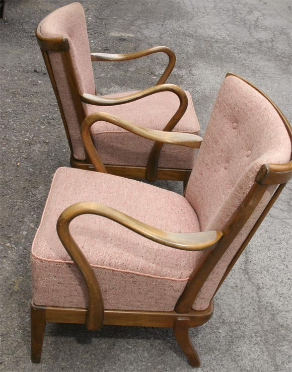 Pair of Tubby Armchairs 2