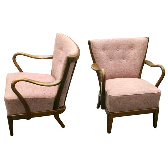 Pair of Tubby Armchairs