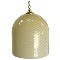 1970s Hand Blown Murano Glass Hanging Dome