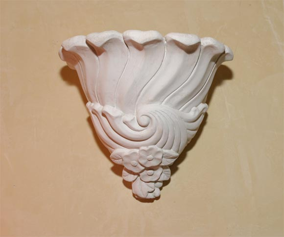 Wall Sconces Plaster : Pair Plaster Wall Sconces at 1stdibs