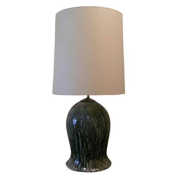 Gourd Ceramic Drip Glaze Lamp At 1stdibs