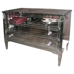 Neoclassical Modern 3-Drawer Mirrored Dresser