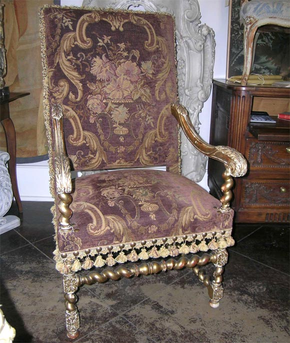 louis xiii style fauteuil at 1stdibs. Black Bedroom Furniture Sets. Home Design Ideas