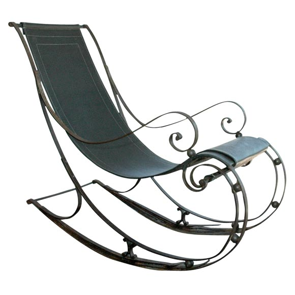 Wrought Iron Rocking Chair At 1stdibs
