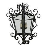Iron Scroll Hanging Lantern