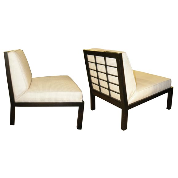 Pair Of Slipper Chairs By Michael Taylor For Baker At 1stdibs