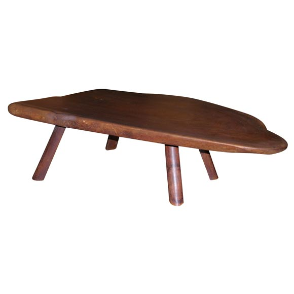 One Black Walnut Coffee Table Philip Powell At 1stdibs