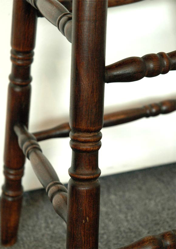 19thc Turned Spindle Legs In Natural Pine Great Dark