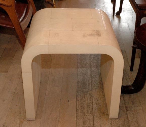 Superior White Shagreen U Shaped Side Table 2