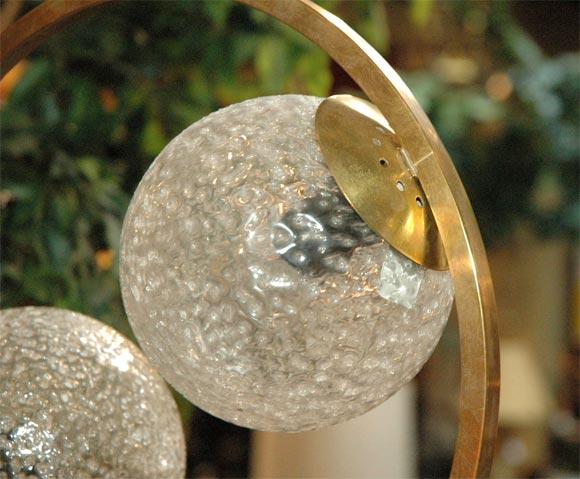 Italian 50s Fontana Arte Circular Hanging Light Fixture