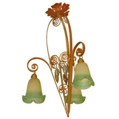 French Deco Hanging Lamp