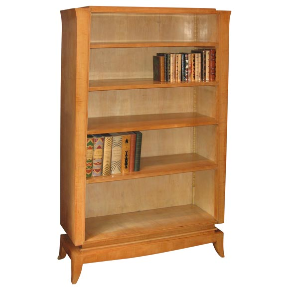 Small 1940s Sycamore Bookcase At 1stdibs