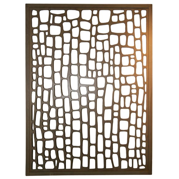 Wall Jali Design : Modernist room divider wall sculpture at stdibs