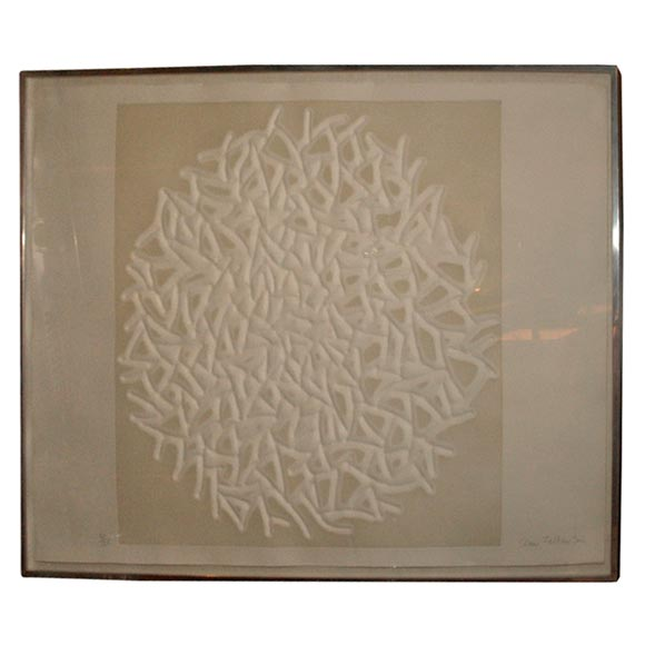 Quot struttura grafica relief sculpture by claire falkenstein