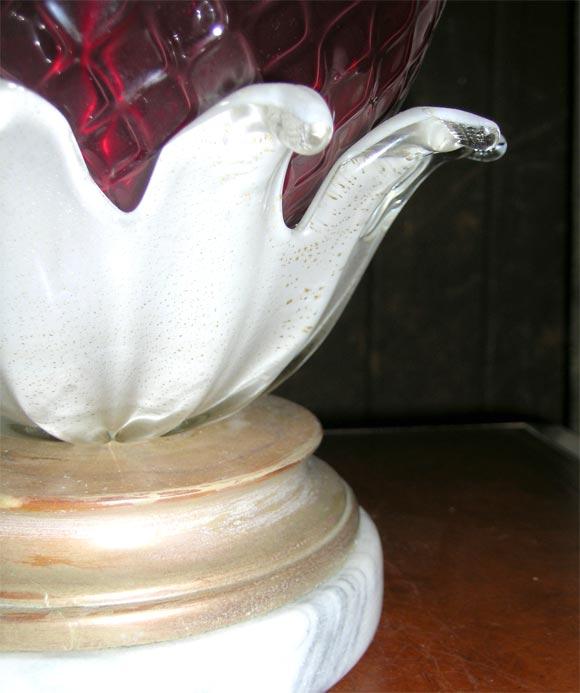 Venetian Murano Glass Pineapple Lamp For Sale 3