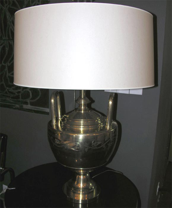 20th Century Bronze Art Deco Table Lamp by Caldwell For Sale