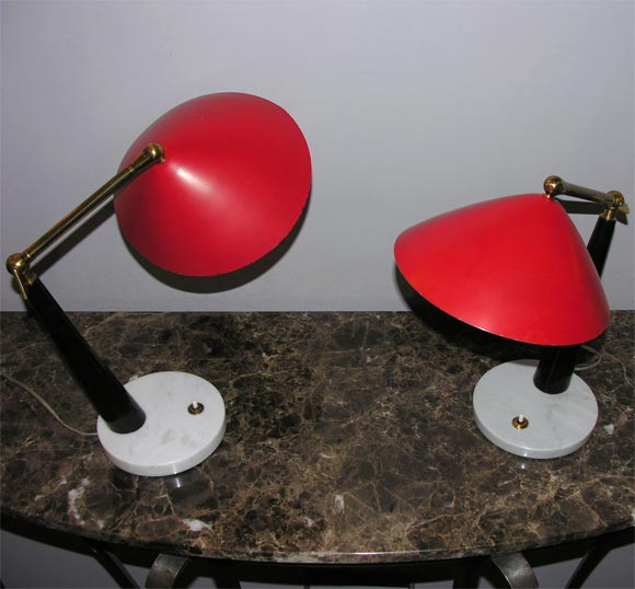Italian 1950s Articulated Table Lamp, Signed Stilux 3