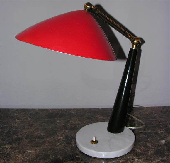 Italian 1950s Articulated Table Lamp, Signed Stilux 4