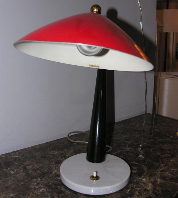 Italian 1950s Articulated Table Lamp, Signed Stilux 5