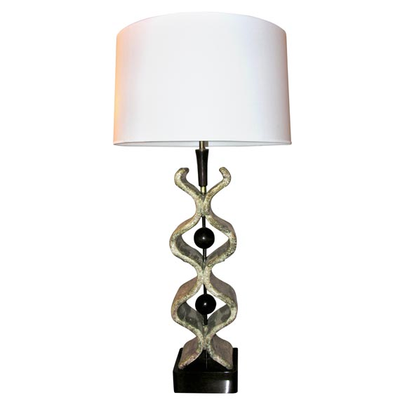 1950s Italian Sculptural Table Lamp For Sale