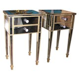 Pair of Mirrored Two-Drawer Commodes
